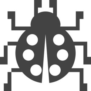 Bug Glyph Icon