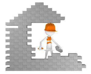 Builder Building A House
