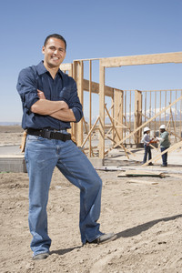 Builder constructing a home