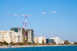 Building Construction At Seashore