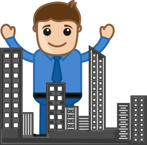 Buildings - Real Estate Concept - Vector Character Cartoon Illustration