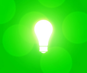 Bulb Green Background