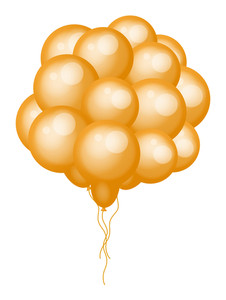 Bunch Of Yellow Balloons