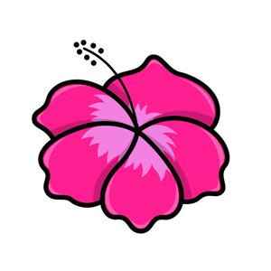 Bunga Raya Flower - Vector Illustration