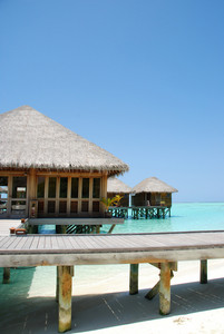 Bungalow's Architecute On A Maldivian Island