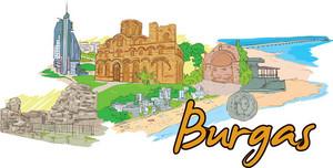 Burgas Vector Doodle