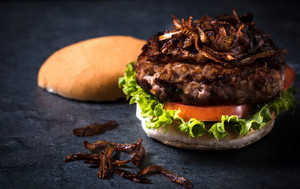 Burger With Grilled Onion