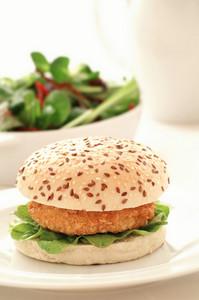 Chicken Vegetarian Burger Meal