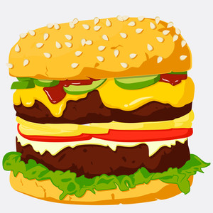 Burger Illustration.