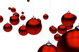 Burgundy Holiday Ornaments