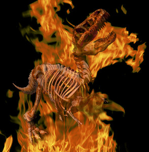 Burning T. Rex