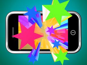 Bursting Stars From Mobile Phone