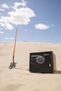 Burying money in the desert