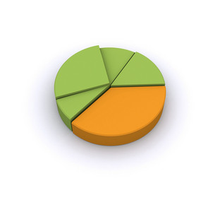 Business 3d Pie Chart Isolated