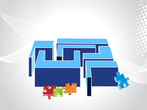 Business Background With Colorful Puzzles