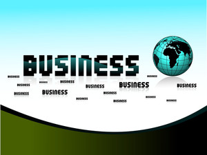 Business Background With Isolated Globe