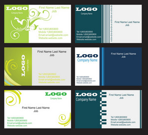 Business Cards Vector Set