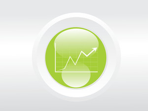 Business Graph On Green Background