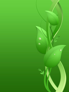 Business Growth Fresh Leaves Flora Background
