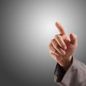 Business Hand Touching Screen