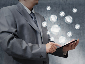 Business Hand Use Tablet Computer With Bubble