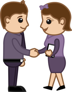 Business Handshake - Business Cartoons Vectors