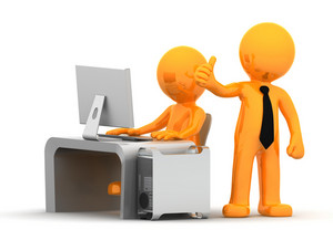 Business People Working With Computer