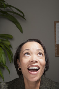 Business person surprised in office