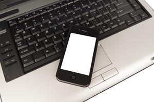 Business Phone On Computer LaptopXXXL