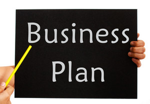 Business Plan Board Shows Management Strategy