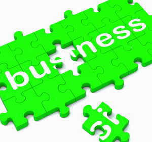 Business Puzzle Showing Commercial Transactions