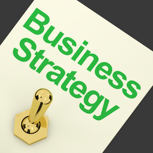 Business Strategy Switch Showing Vision And Motivation