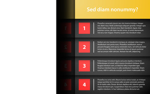 Business Template With 4 Options. Useful For Web Design