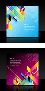 Business Template With Abstract Object On Magenta Background