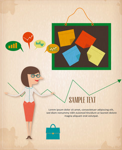 Business Woman Infographic (editable Text)