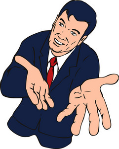 Businessman Extending Hands