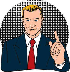 Businessman Finger Number One