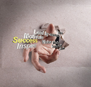 Businessman Hand Reach Success