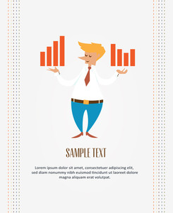 Businessman Infographic (editable Text)