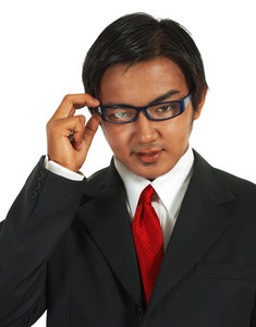 Businessman Wearing Glasses