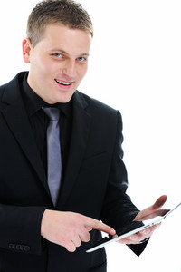 Businessman with ipad