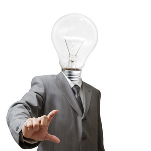 Businessman,light Bulb Head