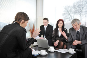 Businesswoman having a job interview