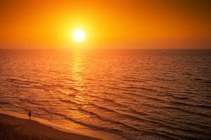 Butiful sunsef over Mediterranean Sea