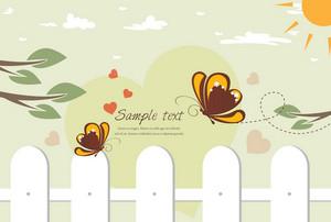 Butterflies In Love Vector Illustration