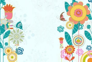 Butterflies With Floral Vector Illustration