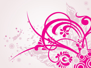 Butterfly Background With Pink Floral