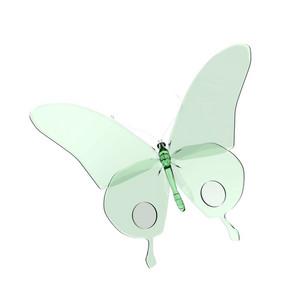 Butterfly Glass Illustration