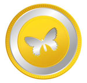 Butterfly Vector Coin