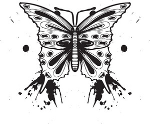 Butterfly With Grunge